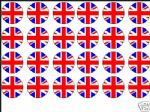 24 x Union Jack UK Edible Wafer Rice Paper Cup Cake Toppers